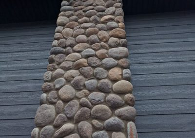 River rock chimney