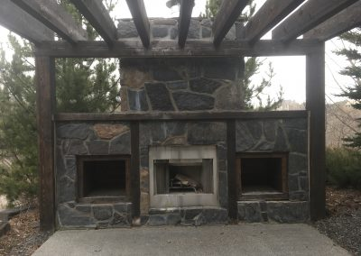 Outdoor fireplace repair