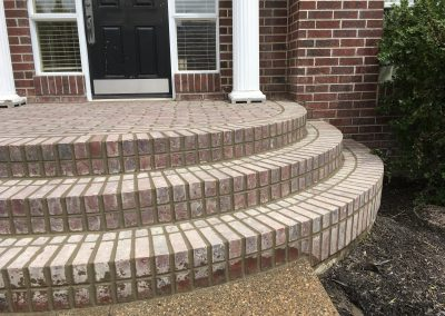 3 level masonry brick step calgary