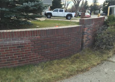 Feature brick wall repair